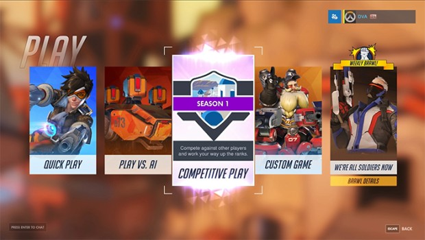 Overwatch's competitive mode is now fully available for PC