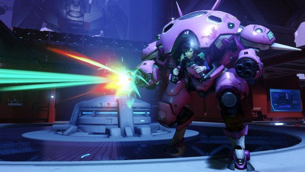 Overwatch D.VA shooting with her mech