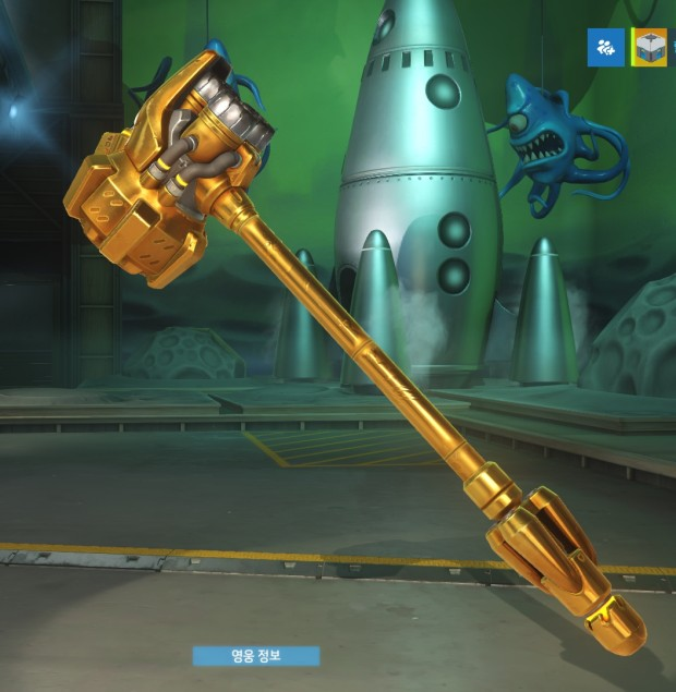 Overwatch ranked reward - gold Reinhardt hammer