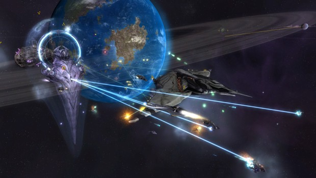 Sins of a Solar Empire: Rebellion official screenshot of a space battle