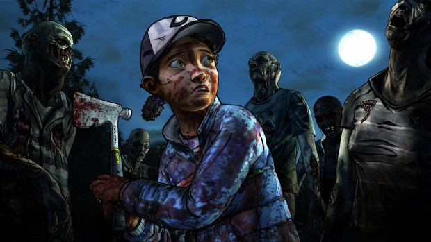Telltale's The Walking Dead: Season 3 screenshot of Clementine fighting zombies