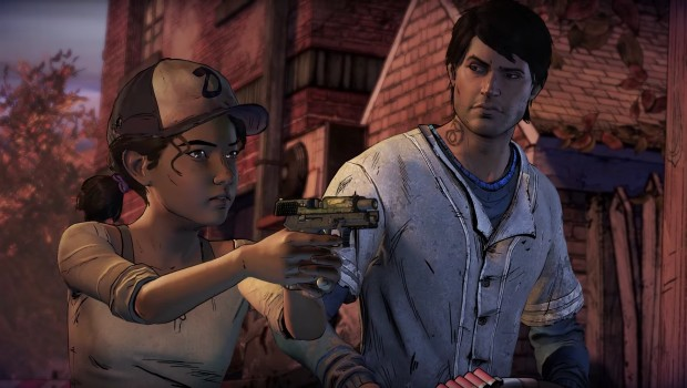 Telltale's The Walking Dead Season 3 screenshot of Javier and Clementine