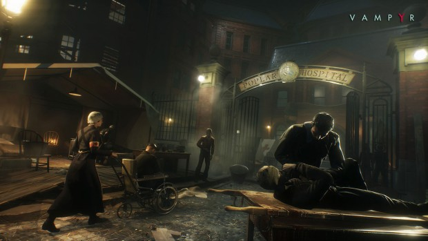 Vampyr gameplay screenshot of a hospital