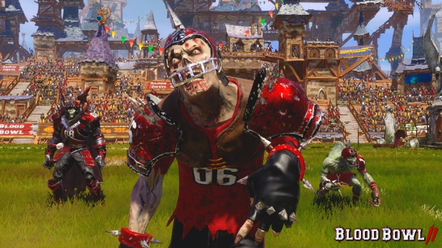 Blood Bowl 2: Undead Team on the field