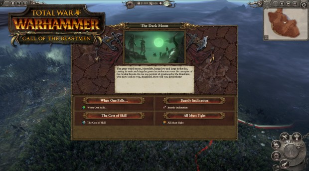 Call of the Beastmen Campaign Map screenshot