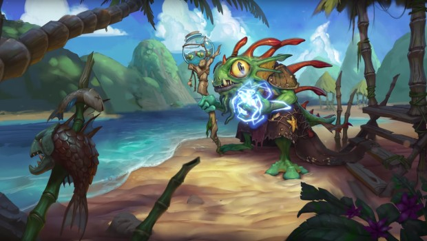 Hearthstone's new Shaman hero, Morgl the Oracle