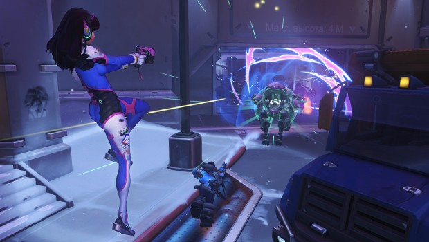 Overwatch's DVA using her ultimate