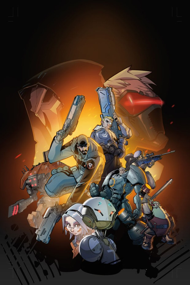 Overwatch Graphic Novel full cower art