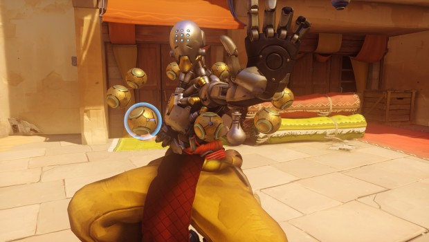 Overwatch's Zenyatta striking a pose