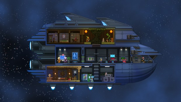Starbound's colony ship screenshot