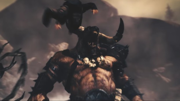 Total War: Warhammer's Call of the Beastmen Minotaur in action