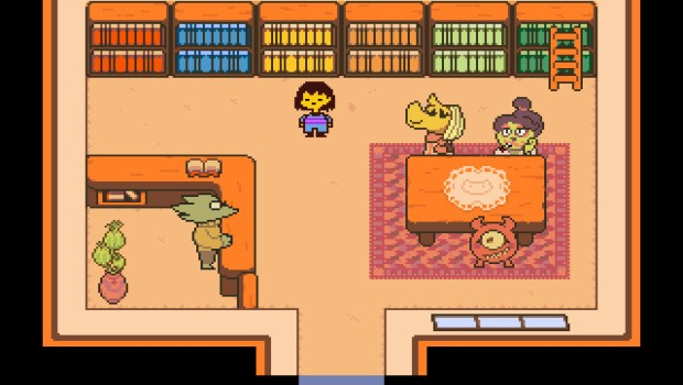 Undertale screenshot showcasing the library