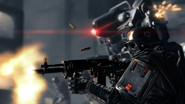 Screenshot from the PC version of Wolfenstein: The New Order
