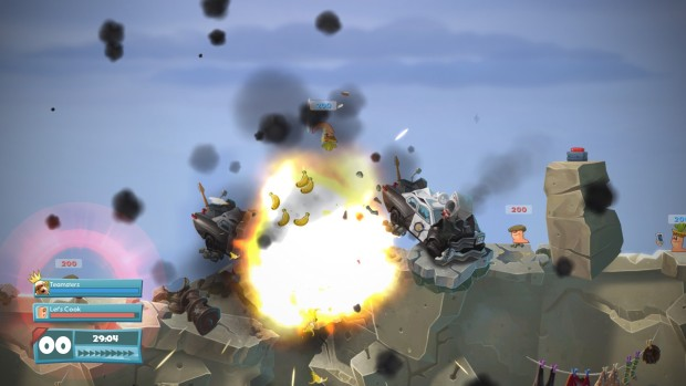 Worms WMD banana bomb explosion