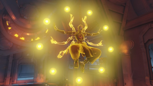 Overwatch's Zenyatta using Transcendence