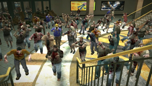 Dead Rising 1 screenshot of the zombies