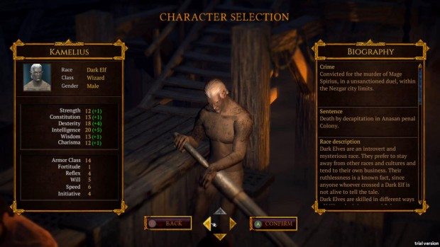 Demons Age character creation