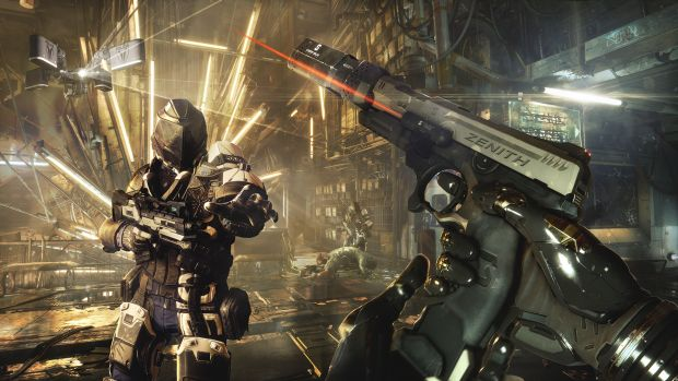 Deus Ex: Mankind Divided screenshot of some combat gameplay