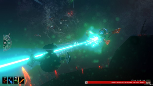 Diluvion's undersea combat with lasers