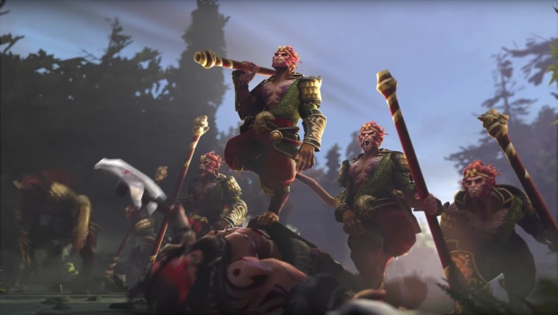 Dota 2's Monkey King and his illusions