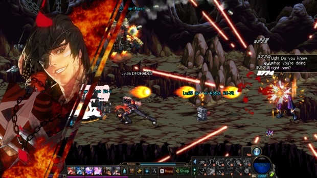 Dungeon Fighter Online combat screenshot from the Steam version