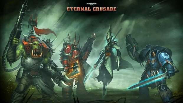 Eternal Crusade official artwork showing the various races