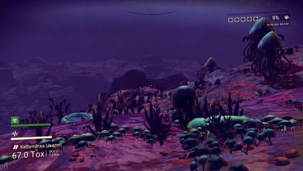 No Man's Sky screenshot showcasing an alien world
