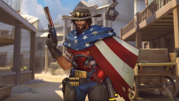Overwatch's new McCree cosmetic is very USA themed