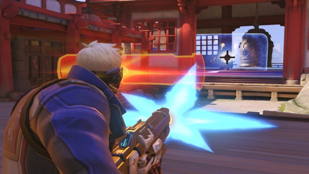 Overwatch's Soldier 76 using his ultimate