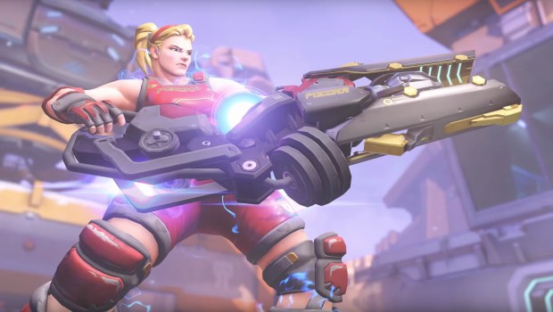 Weightlifter Zarya skin from the new Overwatch Summer Games Loot Box