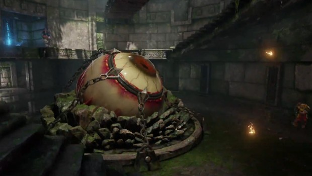 Quake Champions a map with a giant eye in the middle