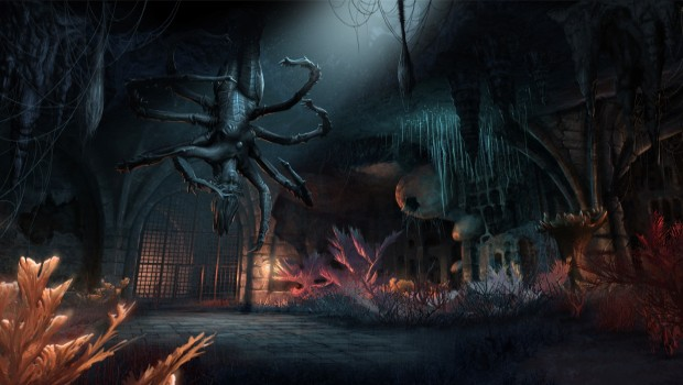 The Elder Scrolls Online's Shadow of the Hist spider dungeon screenshot