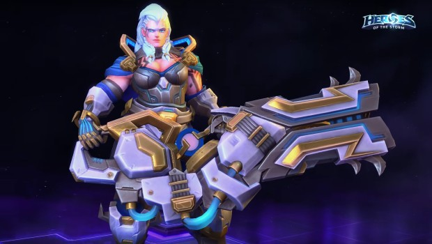 Zarya's Heroes of the Storm Thunder Guard skin