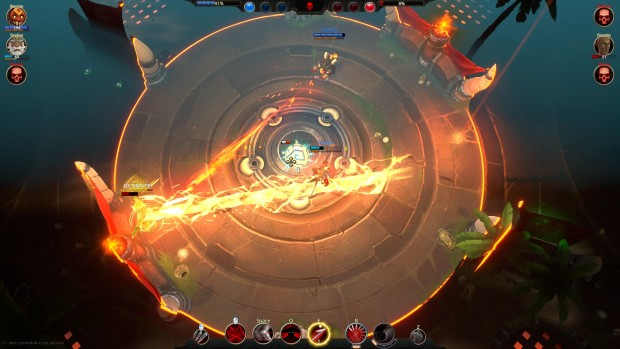 Battlerite screenshot showing two laser projectiles