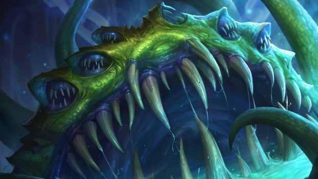 The official artwork for Hearthstone's Yogg-Saron