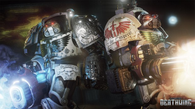 Space Hulk: Deathwing official artwork showing two Terminator Marines