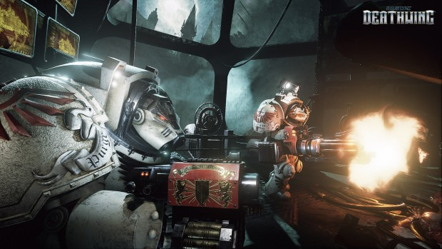 Space Hulk: Deathwing screenshot of Terminator Marines in action