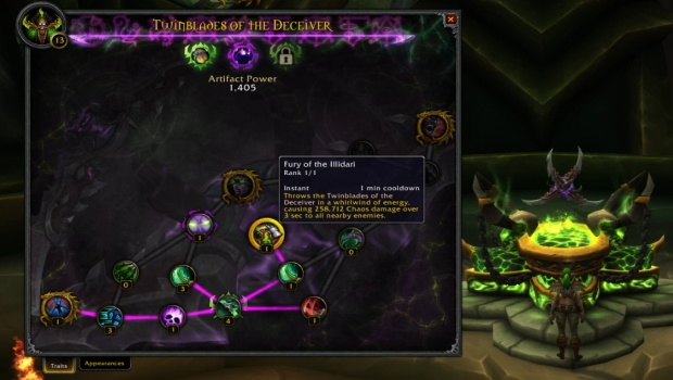 World of Warcraft: Legion's Demon Hunter artifact weapon talents