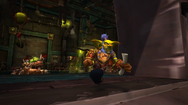 World of Warcraft's Goblin delivering some news