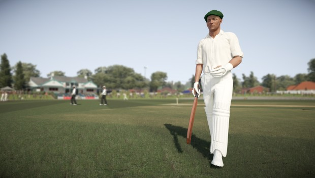 Don Bradman Cricket 17 screenshot showcasing a single player