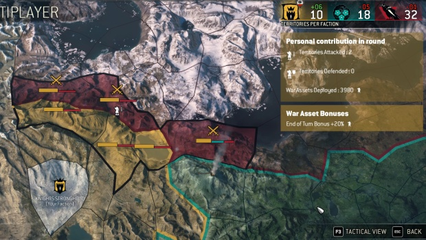For Honor's much-advertised Faction War map