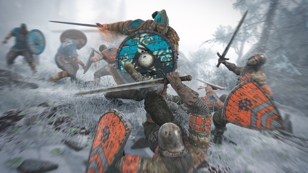 For Honor screenshot showing knights and vikings
