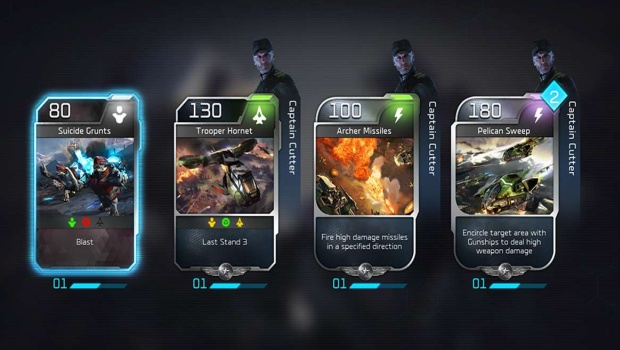 Halo Wars 2 Blitz Beta cards screenshot