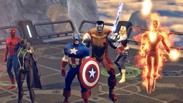 Marvel Heroes screenshot showing various heroes