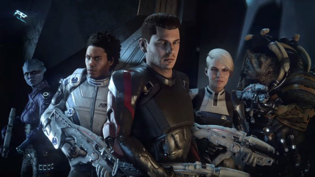 Mass Effect: Andromeda's main character and his squad