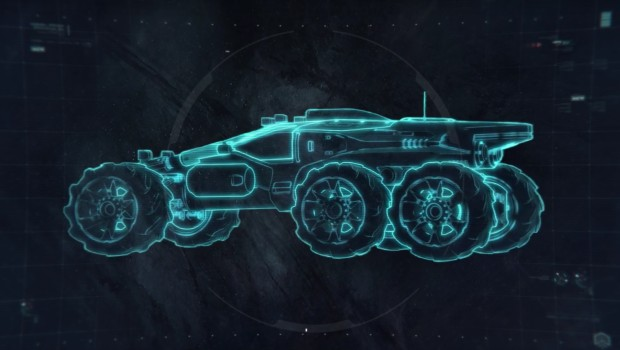 Mass Effect: Andromeda Nomad rover schematics