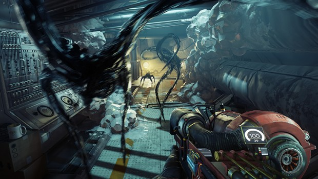 Prey screenshot of the shapeshifting aliens