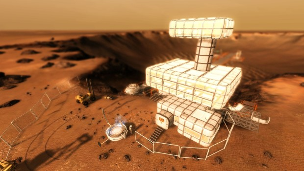 Take on Mars screenshot featuring a player built base