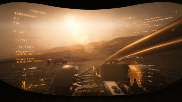 Take on Mars screenshot of an astronaut's helm display