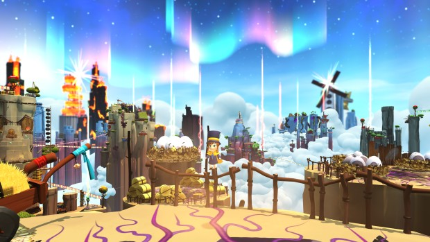 A Hat in Time screenshot of the giant Alpine Skyline map